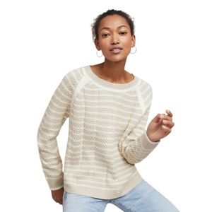 Anthropologie John & Jett Nola Striped Pullover